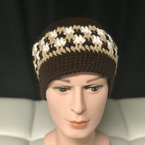 Brown tan and white Unisex Beanie